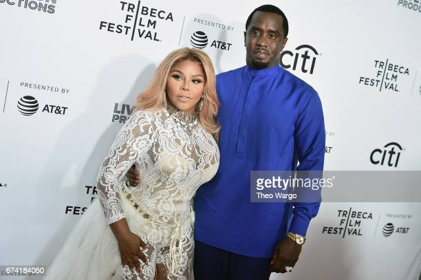Lil Kim and Sean Combs attend the 'Can't Stop Won't Stop The Bad Boy Story' Premiere at the Beacon Theatre on April 27 2017 in New York City
