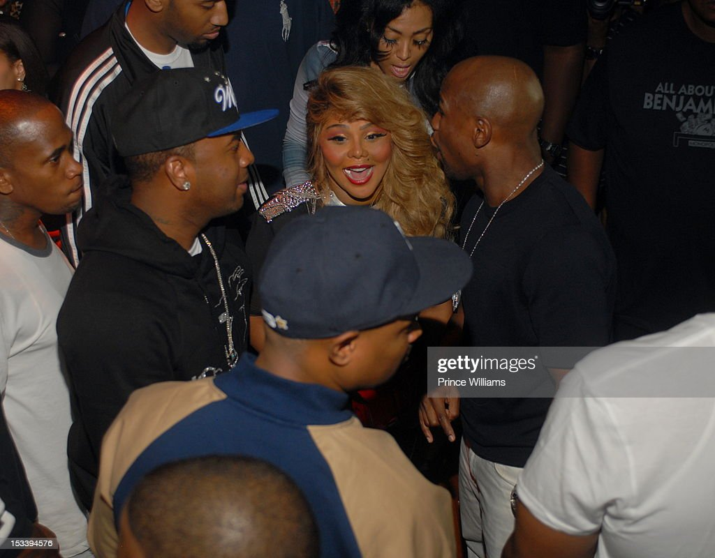 <a gi-track='captionPersonalityLinkClicked' href=/galleries/search?phrase=Lil%27+Kim&family=editorial&specificpeople=202942 ng-click='$event.stopPropagation()'>Lil' Kim</a> attends a party hosted by Gucci and Floyd Mayweather at Life Nightclub on September 29, 2012 in Atlanta, Georgia.
