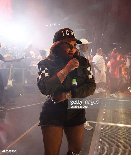 Lil Kim attends HOT 97 Summer Jam 2017 at MetLife Stadium on June 11 2017 in East Rutherford New Jersey