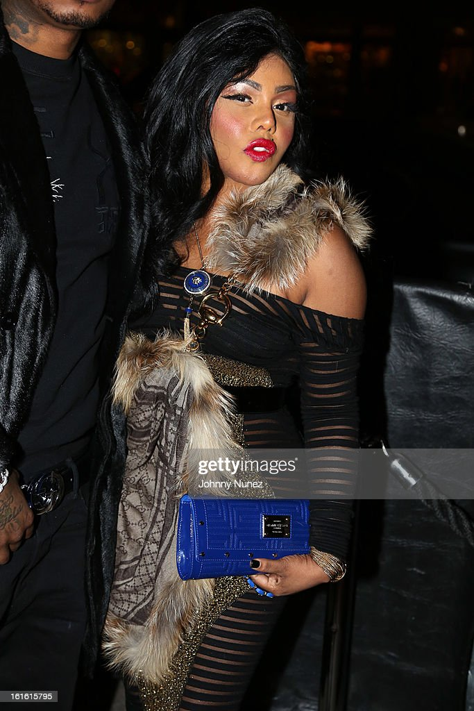 Lil' Kim attends the Baltimore Ravens Superbowl Victory Party at Greenhouse on February 12, 2013 in New York City.