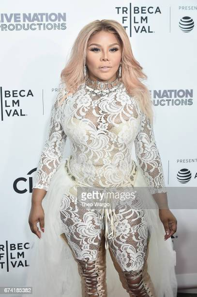 Lil Kim attends the 'Can't Stop Won't Stop The Bad Boy Story' Premiere on April 27 2017 in New York City