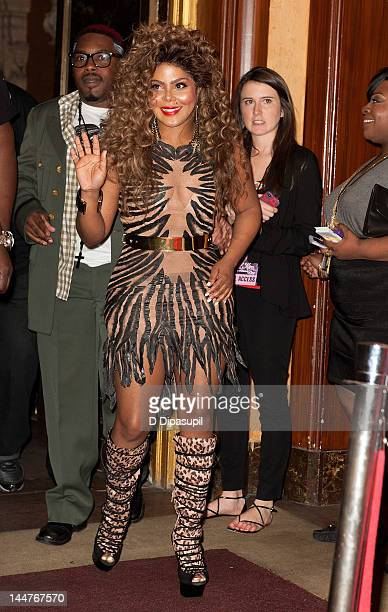 Lil' Kim attends the Lil' Kim 'Return Of The Queen' Tour at Paradise Theater on May 18 2012 in New York City
