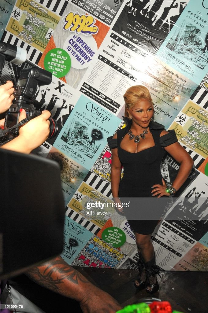 Lil' Kim attends the Opening Ceremony Spring/Summer 2013 Fashion Week Party at Webster Hall on September 9, 2012 in New York City.