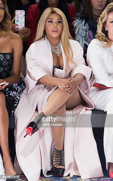 Lil' Kim attends the Ralph Russo Haute Couture Fall/Winter 20162017 show as part of Paris Fashion Week on July 4 2016 in Paris France