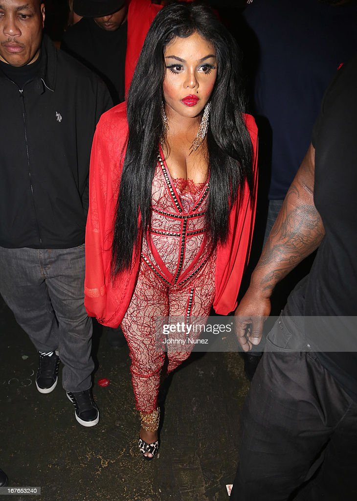 Lil Kim backstage at the Gramercy Theatre on April 26, 2013 in New York City.