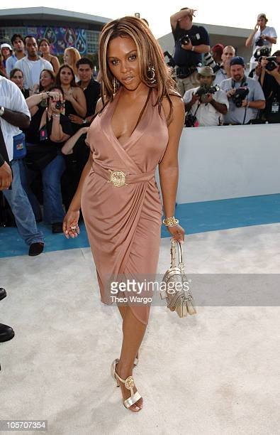 Lil Kim during 2005 MTV Video Music Awards Arrivals at American Airlines Arena in Miami Florida United States