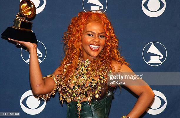 Lil Kim during The 44th Annual Grammy Awards at Staples Center in Los Angeles California United States