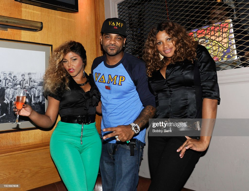 Lil Kim, Jim Jones and Sandra 'Pepa' Denton attends the 1 year anniversary party at Bounce Sporting Club on September 19, 2012 in New York City.