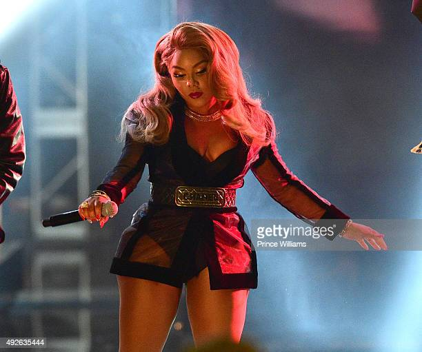 Lil Kim Performs at the 2015 BET Hip Hop awards at Boisfeuillet Jones Atlanta Civic Center on October 9 2015 in Atlanta Georgia