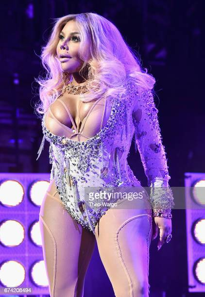 Lil Kim performs at the 'Can't Stop Won't Stop The Bad Boy Story' Premiere at the Beacon Theatre on April 27 2017 in New York City