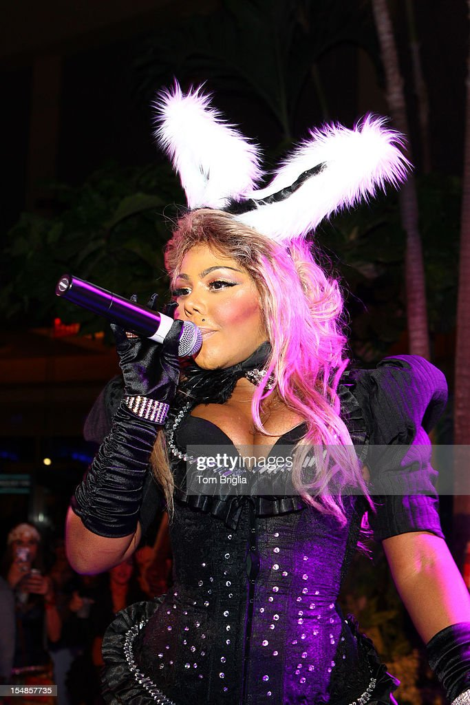 Lil' Kim performs at The Pool After Dark at Harrah's Resort on Saturday October 27, 2012 in Atlantic City, New Jersey.