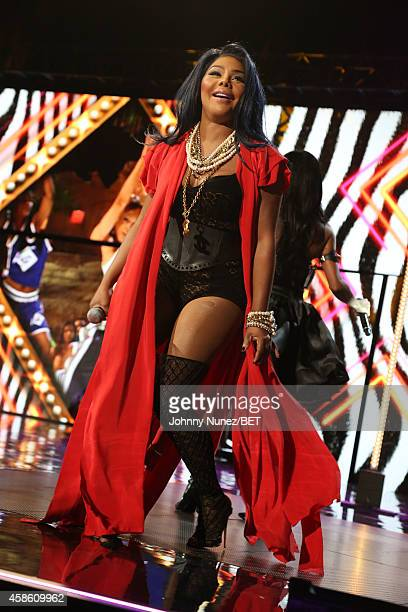 Lil Kim performs during Centric Presents The 2014 Soul Train Awards on November 7 2014 in Las Vegas Nevada