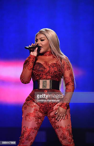 Lil' Kim performs during Puff Daddy and Bad Boy Family Reunion Tour at Madison Square Garden on September 4 2016 in New York City