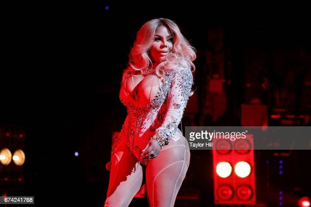 Lil Kim performs during the concert celebrating 'Can't Stop Won't Stop' during the 2017 Tribeca Film Festival at Beacon Theatre on April 27 2017 in...