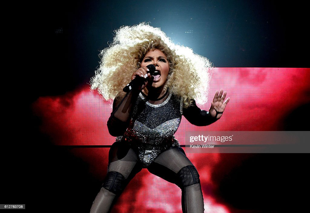 Lil' Kim performs onstage during the Bad Boy Family Reunion Tour at The Forum on October 4, 2016 in Inglewood, California.