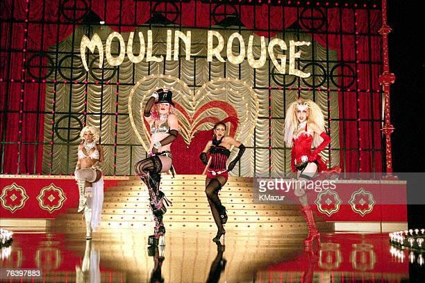 Lil' Kim Pink Mya Christina Aguilera Christina Aguilera by Kevin Mazur The Cast of Lady Marmalade Video Self Assignment January 1 2001