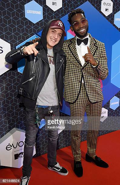Lil Kleine and Tinie Tempah attend the MTV Europe Music Awards 2016 on November 6 2016 in Rotterdam Netherlands