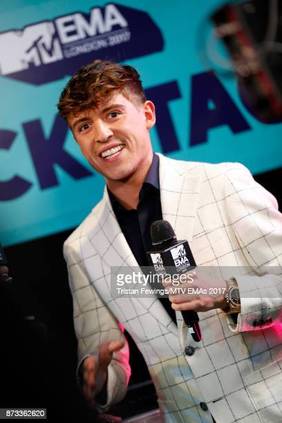 Lil' Kleine backstage during the MTV EMAs 2017 held at The SSE Arena Wembley on November 12 2017 in London England