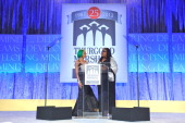 Lil Mama and Gigi Dixon speak onstage at the Thurgood Marshall College Fund 25th Awards Gala on November 11 2013 in Washington City