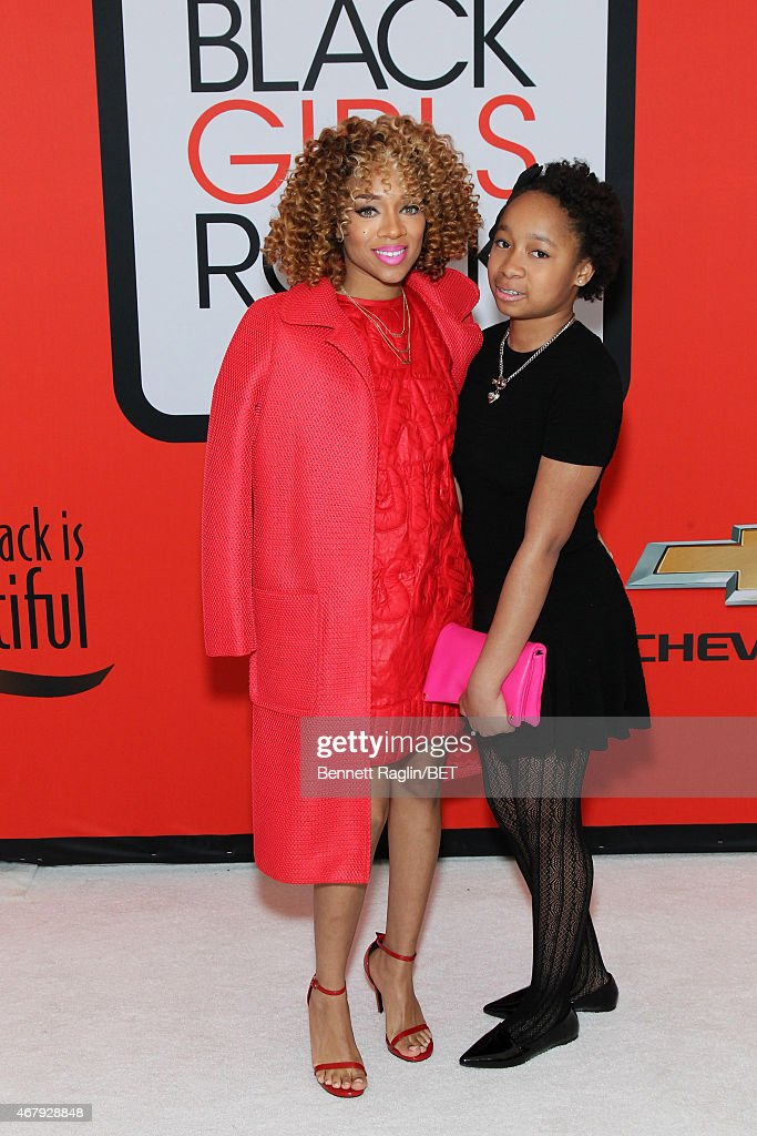 Lil Mama and her sister Jessica attend the BET's 'Black Girls Rock' Red Carpet sponsored by Chevrolet at NJPAC – Prudential Hall on March 28 2015 in...