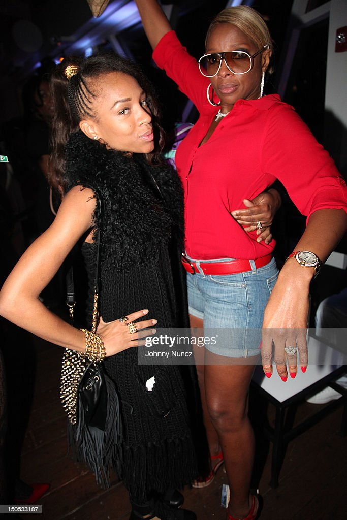 Lil Mama and Mary J Blige attend Don Pooh's Birthday Party at Copacabana on August 19, 2012 in New York City.