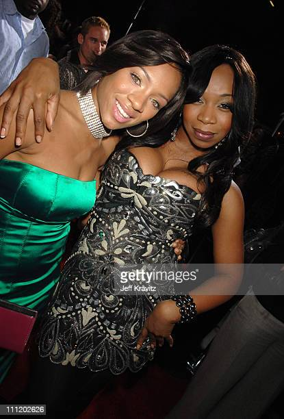 Lil Mama and Tiffany 'New York' Pollard at the 'This Christmas' premiere at the Cinerama Dome on November 12 2007 in Hollywood California