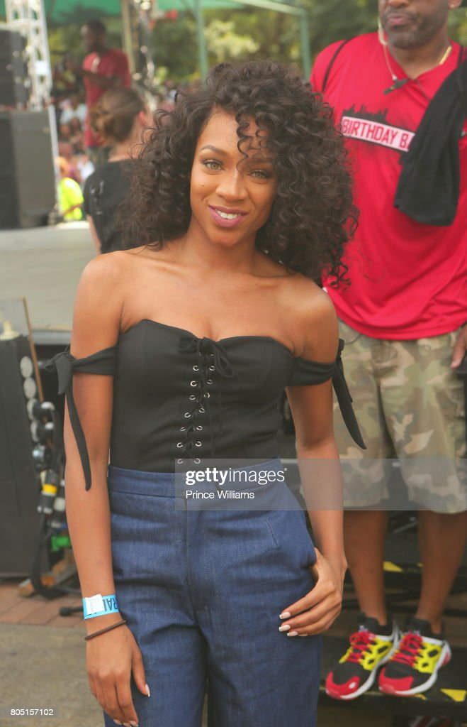 Lil Mama attends the Hot 107.9 Birthday Bash ATL Free Block Party in Centennial Olympic Park on June 17, 2017 in Atlanta, Georgia.
