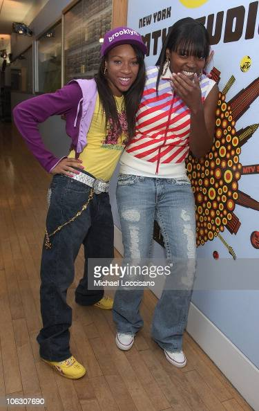 Lil Mama Visits MTV's 'TRL' at MTV Studios on July 3 2007 in New York City