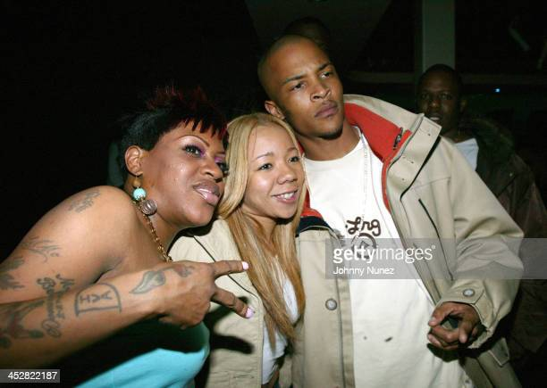 Lil' Mo Tiny and TI during Baby Celebrates the Launch of His New Lugz Shoe Line Rock Star at Bed in New York City New York United States