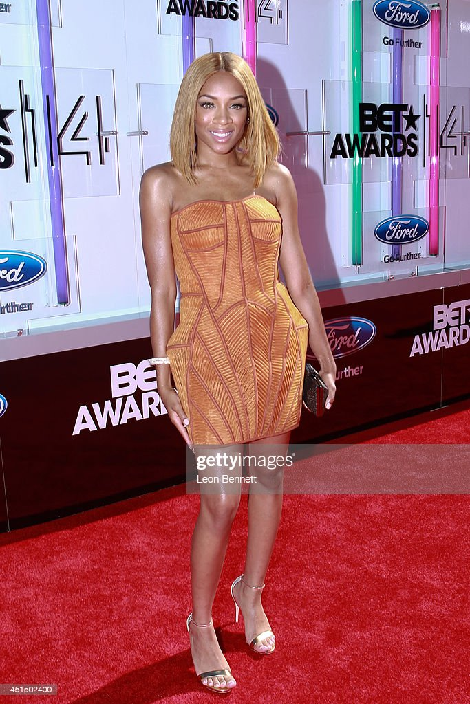 Lil Momma arrived at the BET & Make A Wish Foundation Recipient Wish To Attend BET Awards Red Carpet Arrivals on June 29, 2014 in Los Angeles, California.