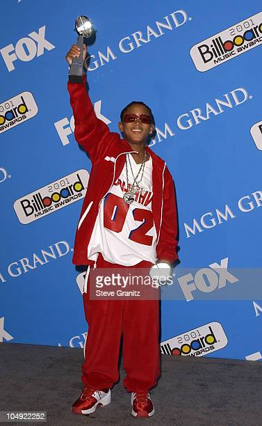 Lil' Romeo poses backstage with his award for Rap Artist of the Year at the 2001 Billboard Music Awards at the MGM Grand Hotel in Las Vegas Nevada...