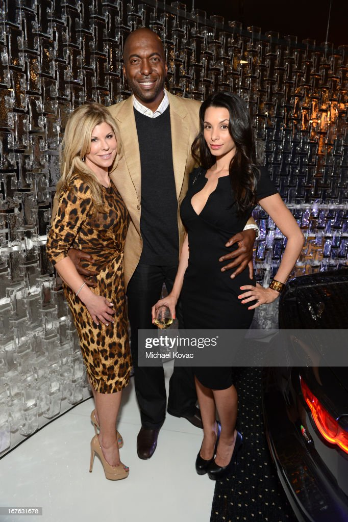 Lil Spitzer, <a gi-track='captionPersonalityLinkClicked' href=/galleries/search?phrase=John+Salley&family=editorial&specificpeople=215276 ng-click='$event.stopPropagation()'>John Salley</a> and Lara La Rue attend the BritWeek Christopher Guy event with official vehicle sponsor Jaguar on April 26, 2013 in Los Angeles, California.