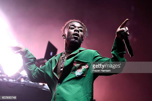 Lil Uzi Vert performs on Flog Stage during day one of Tyler the Creator's 5th Annual Camp Flog Gnaw Carnival at Exposition Park on November 12 2016...