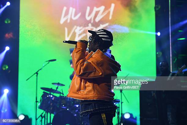 Lil Uzi Vert performs onstage during the 2016 BET Hip Hop Awards at Cobb Energy Performing Arts Center on September 17 2016 in Atlanta Georgia