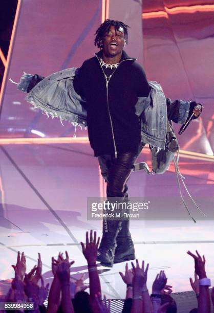 Lil Uzi Vert performs onstage during the 2017 MTV Video Music Awards at The Forum on August 27 2017 in Inglewood California