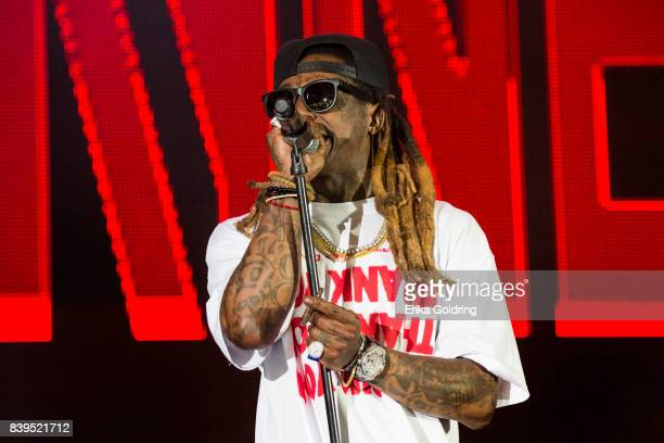 Lil Wayne aka Dwayne Michael Carter Jr performs during Lil Weezyana at Champions Square on August 25 2017 in New Orleans Louisiana