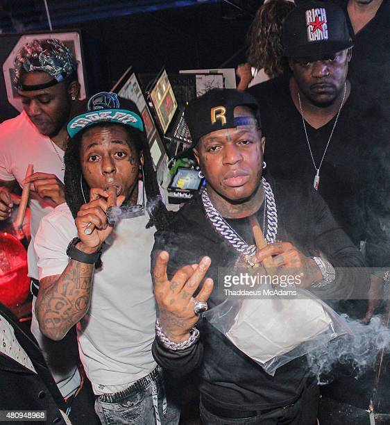 Lil Wayne and Birdman ring in the New Year on December 31 2014 in Miami Florida