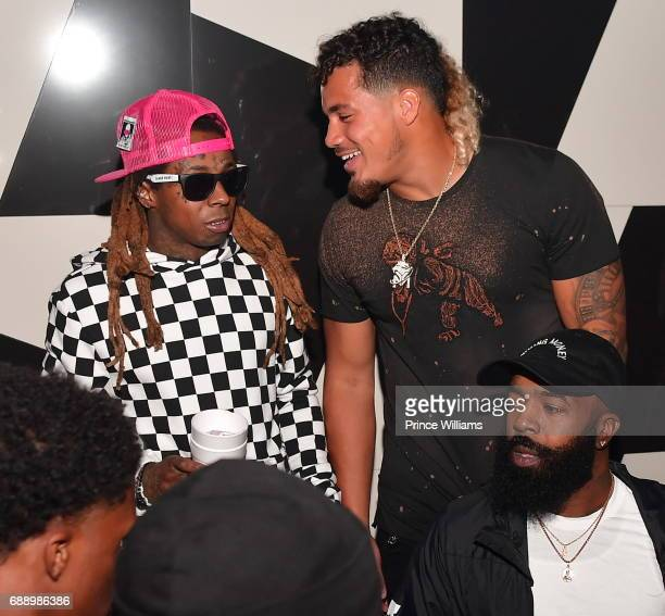 Lil Wayne and Duke Riley attend Duke Rileys Signing Party at Gold Room on May 27 2017 in Atlanta Georgia