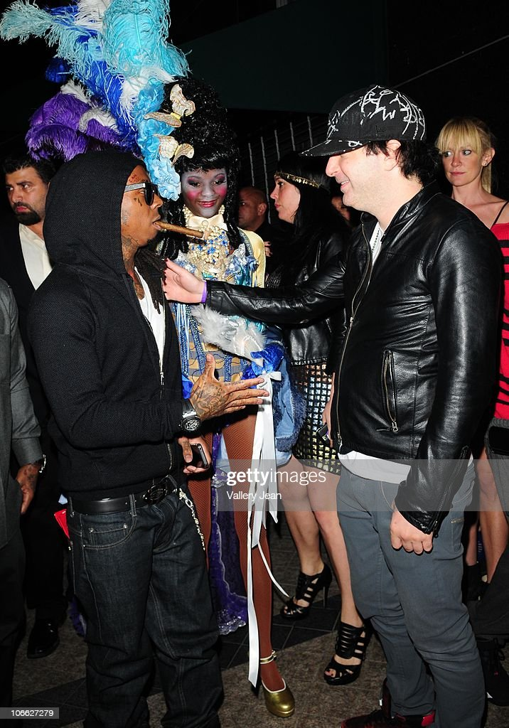 Lil Wayne and Kevin Rudolf arrive at Lil Wayne Welcome Home Party hosted By Cash Money Records on November 7 2010 in Miami Florida
