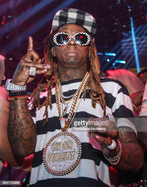 Lil Wayne at LIV nightclub at Fontainebleau Miami on September 24 2017 in Miami Beach Florida