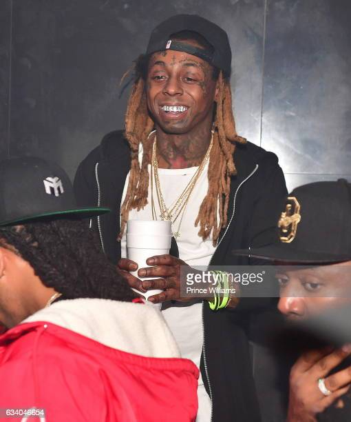 Lil Wayne attends a Superbowl Party at Mercy Night Club on February 5 2017 in Houston Texas