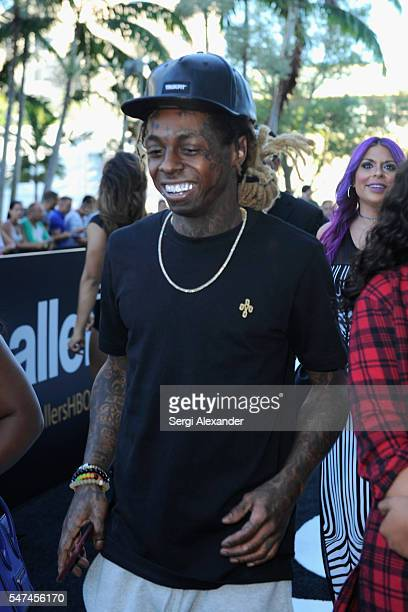 Lil Wayne attends the HBO Ballers Season 2 Red Carpet Premiere and Reception on July 14 2016 at New World Symphony in Miami Beach Florida