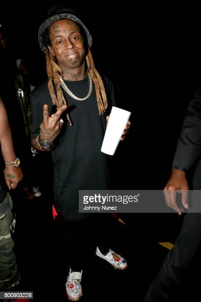 Lil Wayne backstage at the 2017 BET Awards at Microsoft Theater on June 25 2017 in Los Angeles California