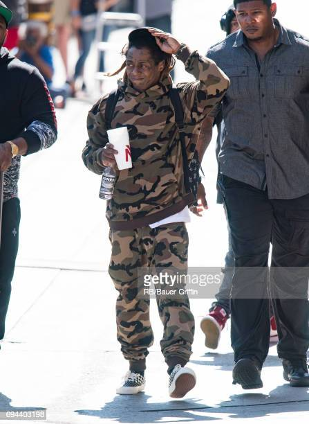 Lil Wayne is seen at 'Jimmy Kimmel Live' on June 09 2017 in Los Angeles California