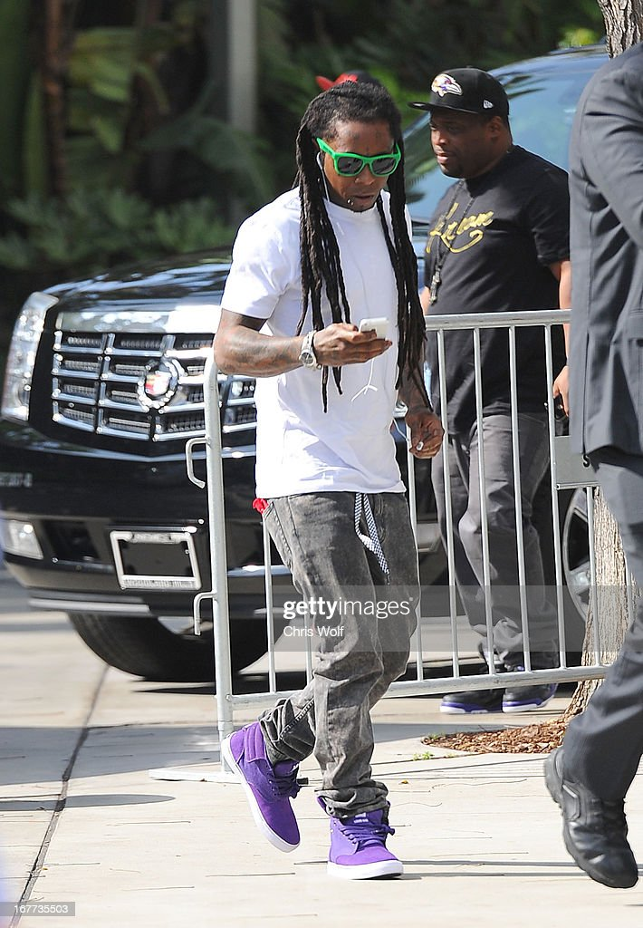 Lil Wayne is seen on April 28, 2013 in Los Angeles, California.