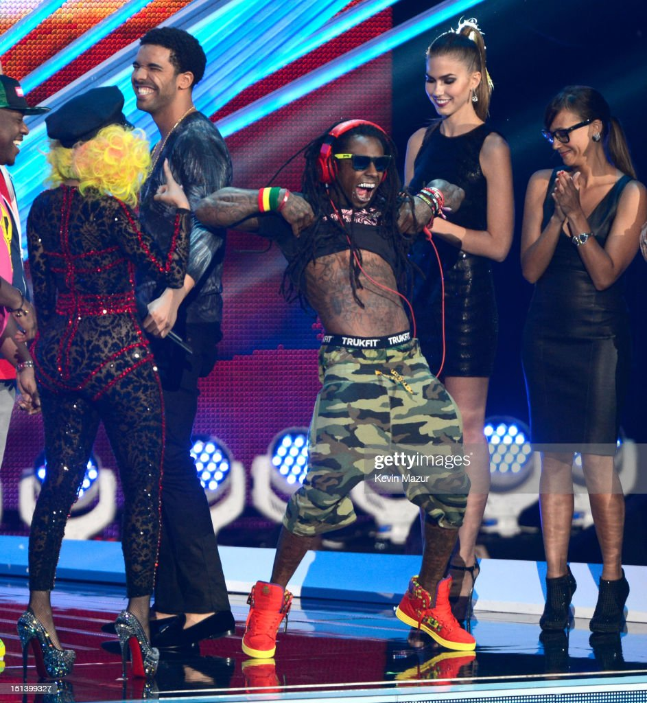 Lil Wayne onstage during the 2012 MTV Video Music Awards at Staples Center on September 6, 2012 in Los Angeles, California.