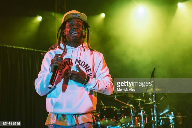 Lil Wayne performing at Stubbs during SXSW on March 16 2017 in Austin Texas