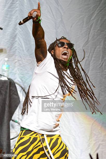 Lil Wayne performs at James L Knight Center on July 24 2012 in Miami Florida