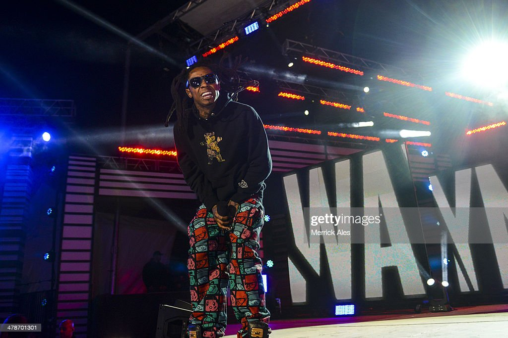 Lil Wayne performs at the 2014 mtvU Woodie Awards on March 13, 2014 in Austin, Texas.