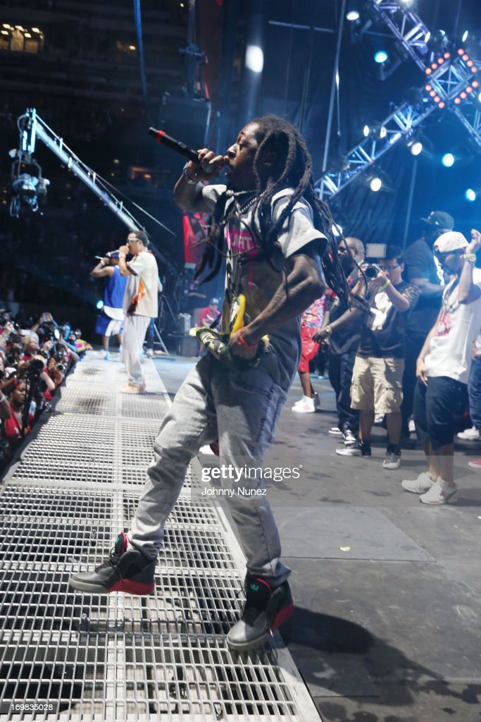Lil Wayne performs during HOT 97 Summer Jam XX at MetLife Stadium on June 2, 2013 in East Rutherford, New Jersey.